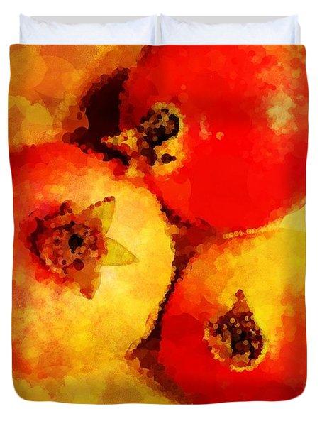 Three Pomegranates Duvet Cover by Mary Machare