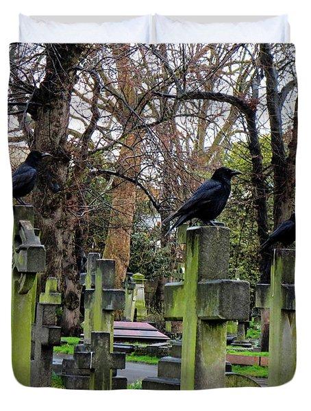 Three Ravens Duvet Cover