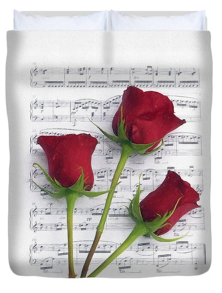 Three Rose Music Duvet Duvet Cover