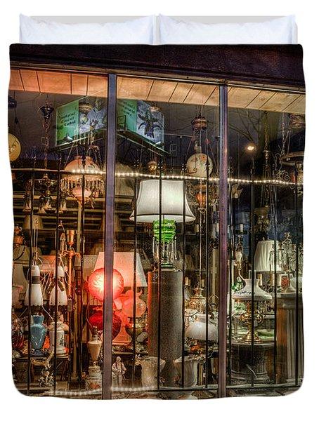 Three Shade Lamp Store Duvet Cover by Mark Goodman