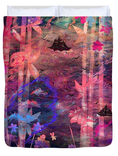 Three Ships Duvet Cover by Rachel Christine Nowicki
