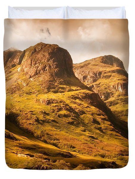 Three Sisters. Glencoe. Scotland Duvet Cover