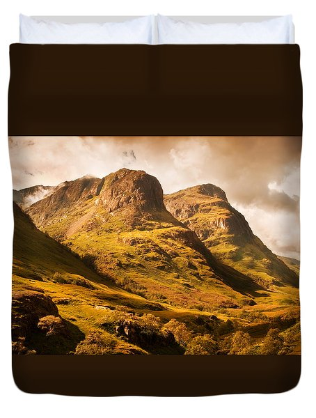 Three Sisters. Glencoe. Scotland Duvet Cover