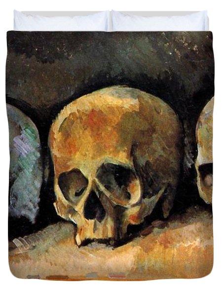 Three Skulls Duvet Cover