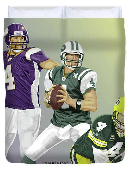 Three Stages Of Bret Favre Duvet Cover