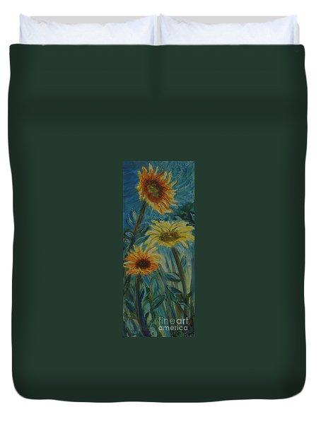 Three Sunflowers - Sold Duvet Cover