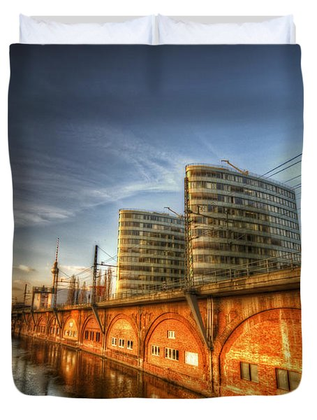 Three Towers Berlin Duvet Cover by Nathan Wright
