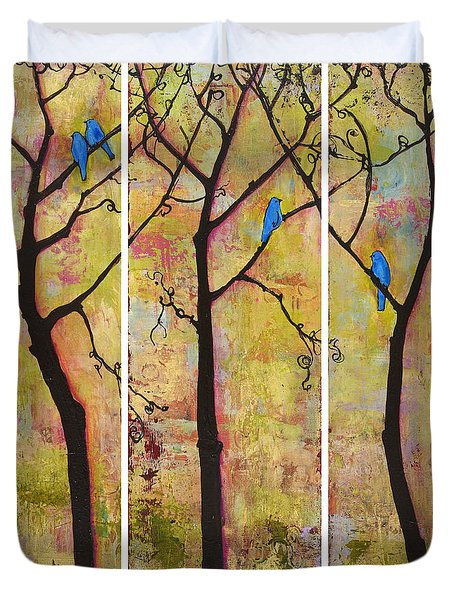 Three Trees Triptych Duvet Cover