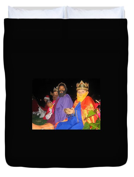 Three Wise Men On Float Christmas Parade Eloy Arizona 2005 Duvet Cover