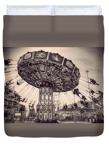 Thrill Rides Duvet Cover