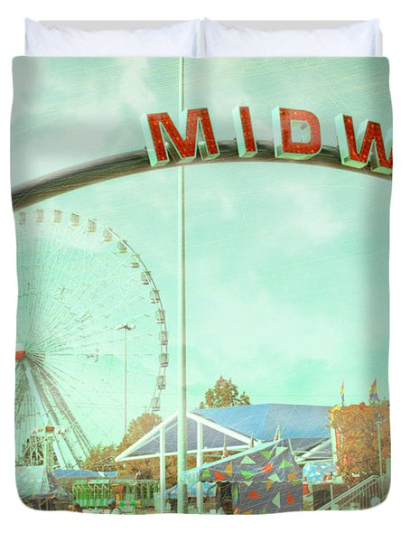 Thrills Of The Midway Duvet Cover