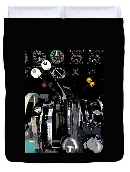 Throttles Duvet Cover by Julio Lopez