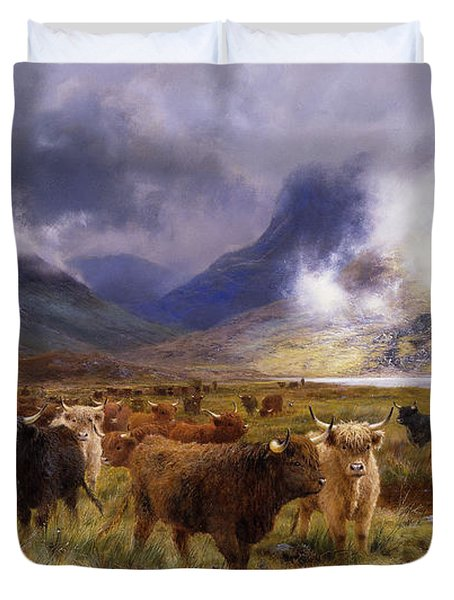 Through Glencoe By  Way To The Tay Duvet Cover