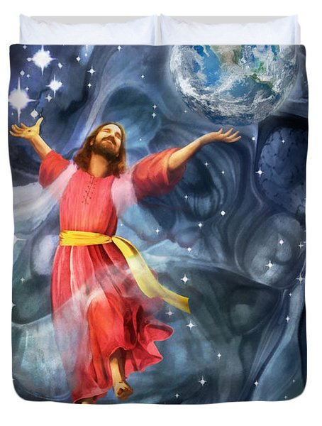 Through Him Duvet Cover