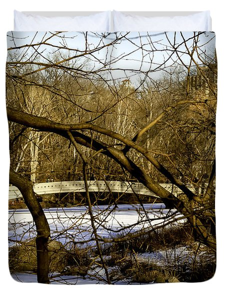 Through The Branches 2 - Central Park - Nyc Duvet Cover by Madeline Ellis