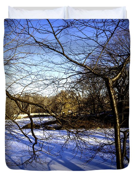 Through The Branches 4 - Central Park - Nyc Duvet Cover by Madeline Ellis