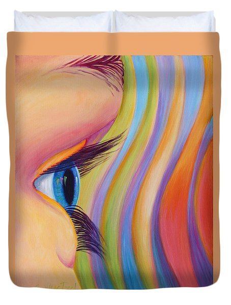 Through The Eyes Of A Child Duvet Cover