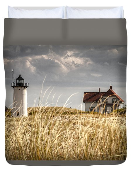 Race Point Light Through The Grass Duvet Cover by Brian Caldwell