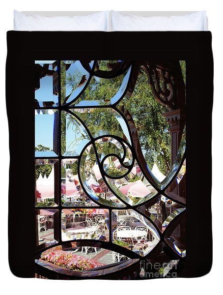 Through The Looking Glass Duvet Cover by Linda Shafer