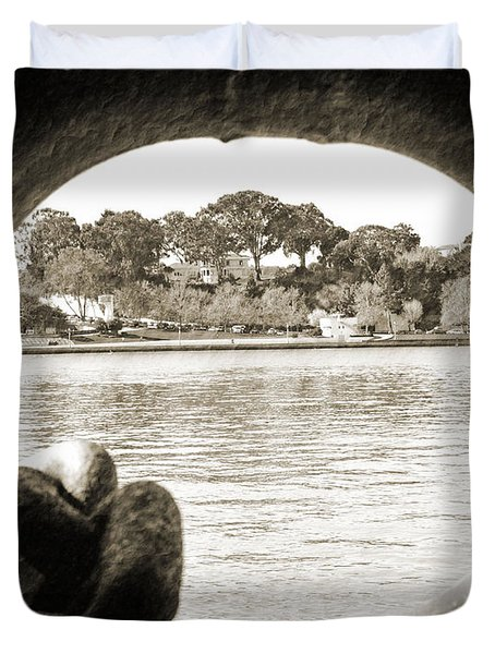 Through The Porthole Duvet Cover by Holly Blunkall