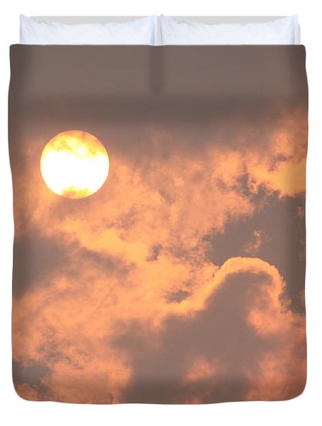 Through The Smoke Duvet Cover