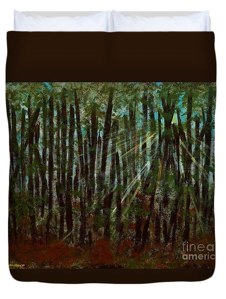 Through The Trees Duvet Cover by Hillary Binder-Klein