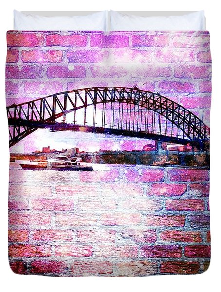 Sydney Harbour Through The Wall 1 Duvet Cover