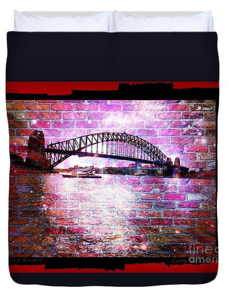 Duvet Cover featuring the photograph Through The Wall 3 by Leanne Seymour