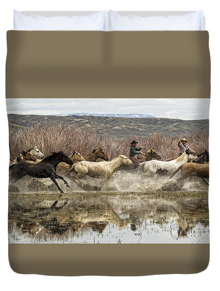 Through The Water II Duvet Cover