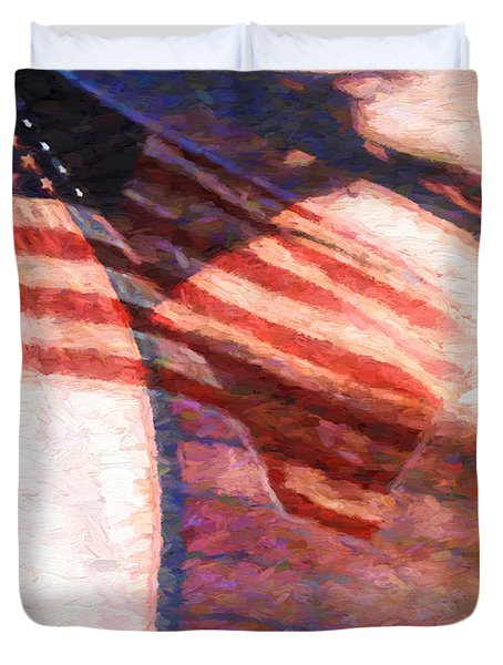 Through War And Peace Duvet Cover