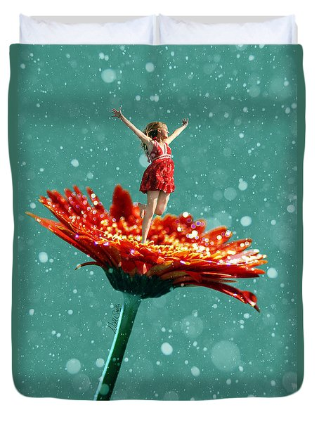 Thumbelina All Grown Up Duvet Cover by Nikki Marie Smith
