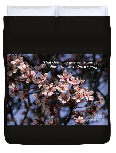 Duvet Cover featuring the photograph Thunder Cloud Prayer by Jean OKeeffe Macro Abundance Art