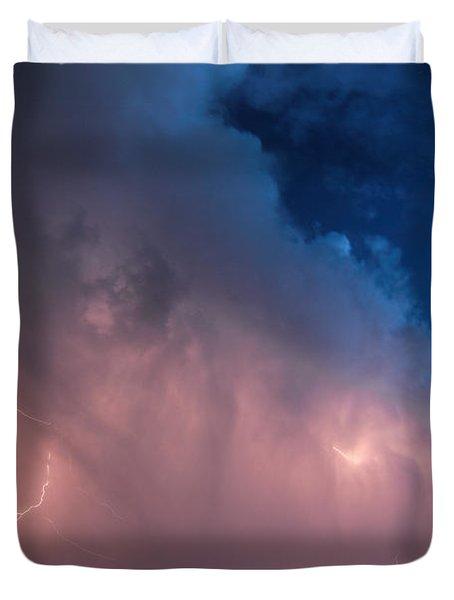 Thunder God Approaches Duvet Cover