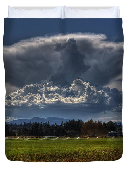 Thunder Storm Duvet Cover by Randy Hall
