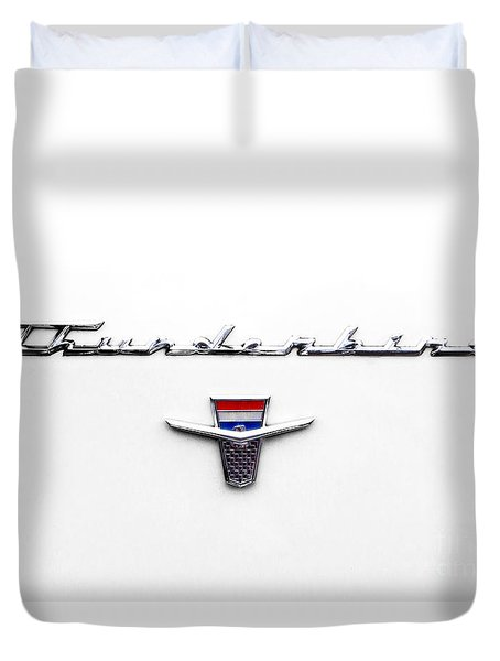 Thunderbird Tag Duvet Cover by Jerry Fornarotto