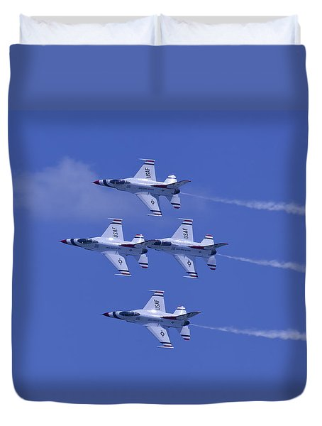 Thunderbirds Diamond Formation Topsides Duvet Cover
