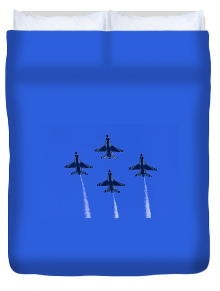Thunderbirds Diamond Formation Undersides 2 Duvet Cover
