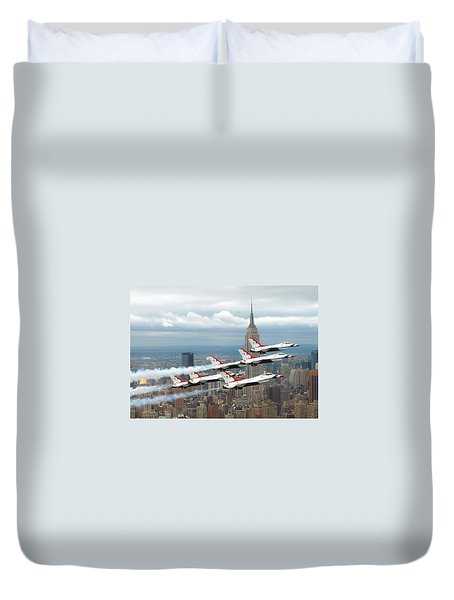 Thunderbirds Over New York City Duvet Cover