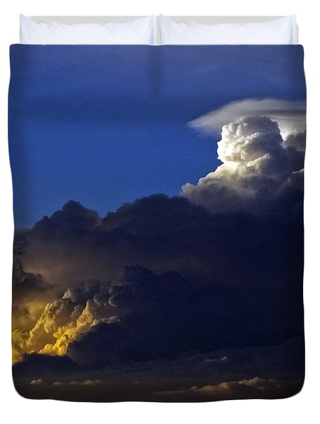 Duvet Cover featuring the photograph Thunderstorm II by Greg Reed