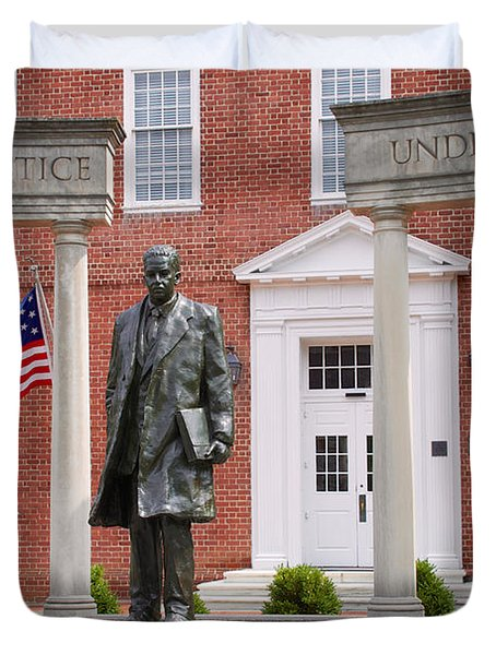Thurgood Marshall Statue - Equal Justice For All Duvet Cover
