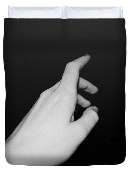 Thy Hand Reaching Duvet Cover