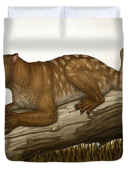 Thylacoleo Carnifex, A Marsupial Duvet Cover by Heraldo Mussolini