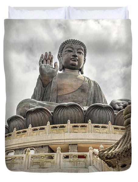 Tian Tan Buddha Duvet Cover by David Gn