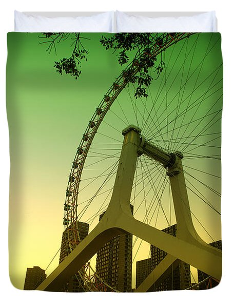 Tianjin Eye  Duvet Cover