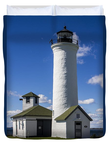 Tibbetts Point Lighthouse Duvet Cover by Ben and Raisa Gertsberg