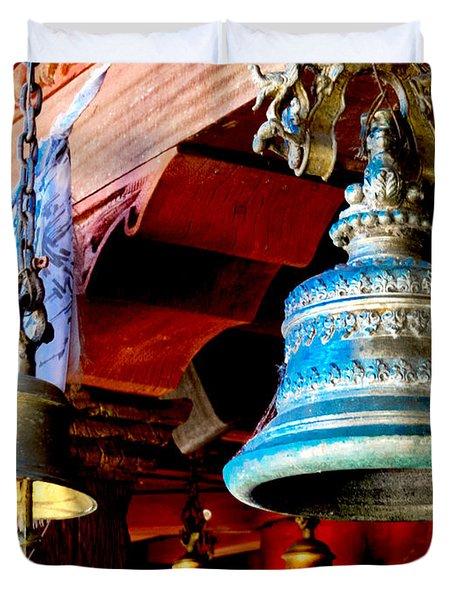 Tibetan Bells Duvet Cover
