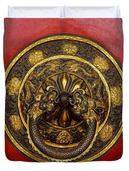Tibetan Door Knocker Duvet Cover