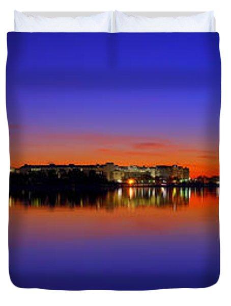 Tidal Basin Sunrise Duvet Cover
