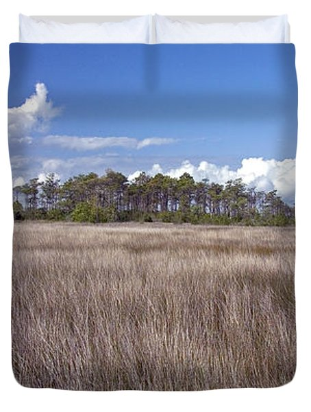 Duvet Cover featuring the photograph Tidal Marsh On Roanoke Island by Greg Reed