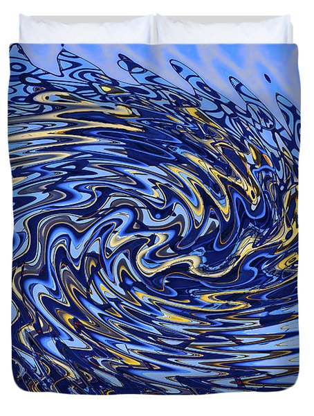 Duvet Cover featuring the photograph Tidal Wave by Gary Holmes
